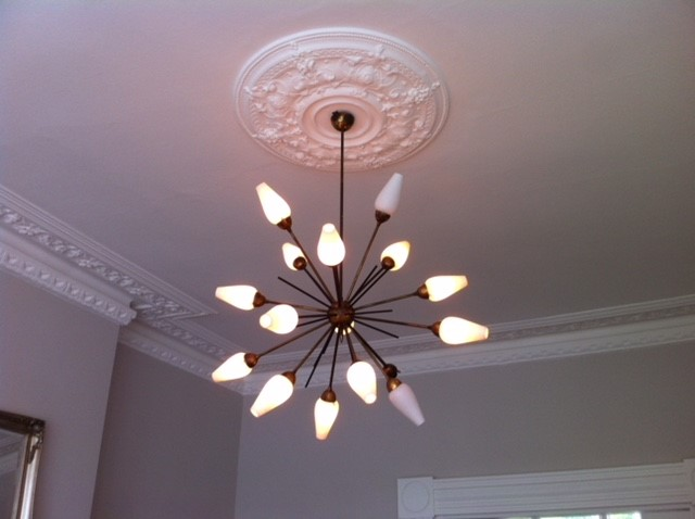 Install ceiling lights by OHM buidling and refurbishment services london