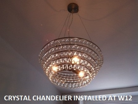 Install chandelier lights by OHM buidling and refurbishment services london