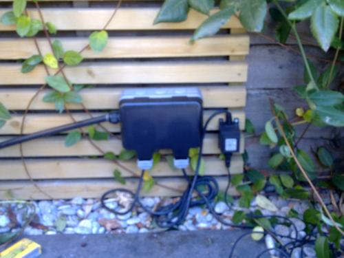Install outdoor power supply by OHM buidling and refurbishment services london