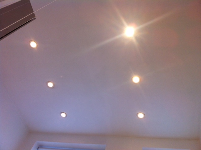 Install spot lights after rewire by OHM buidling and refurbishment services london